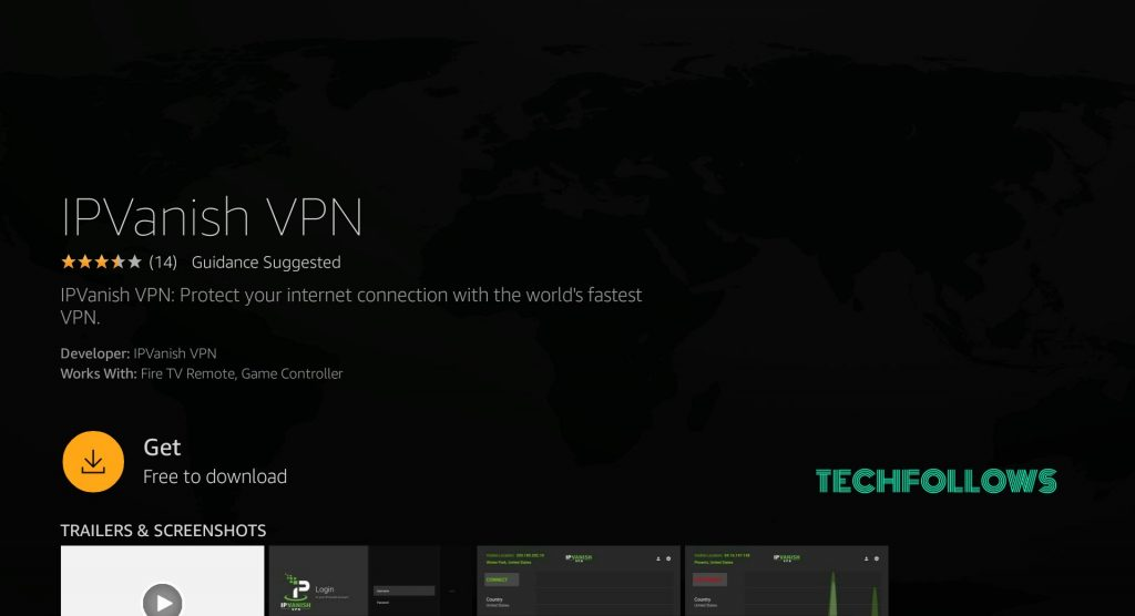 install IPVanish on Firestick