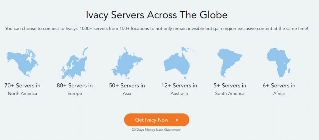 Ivacy VPN Server Locations