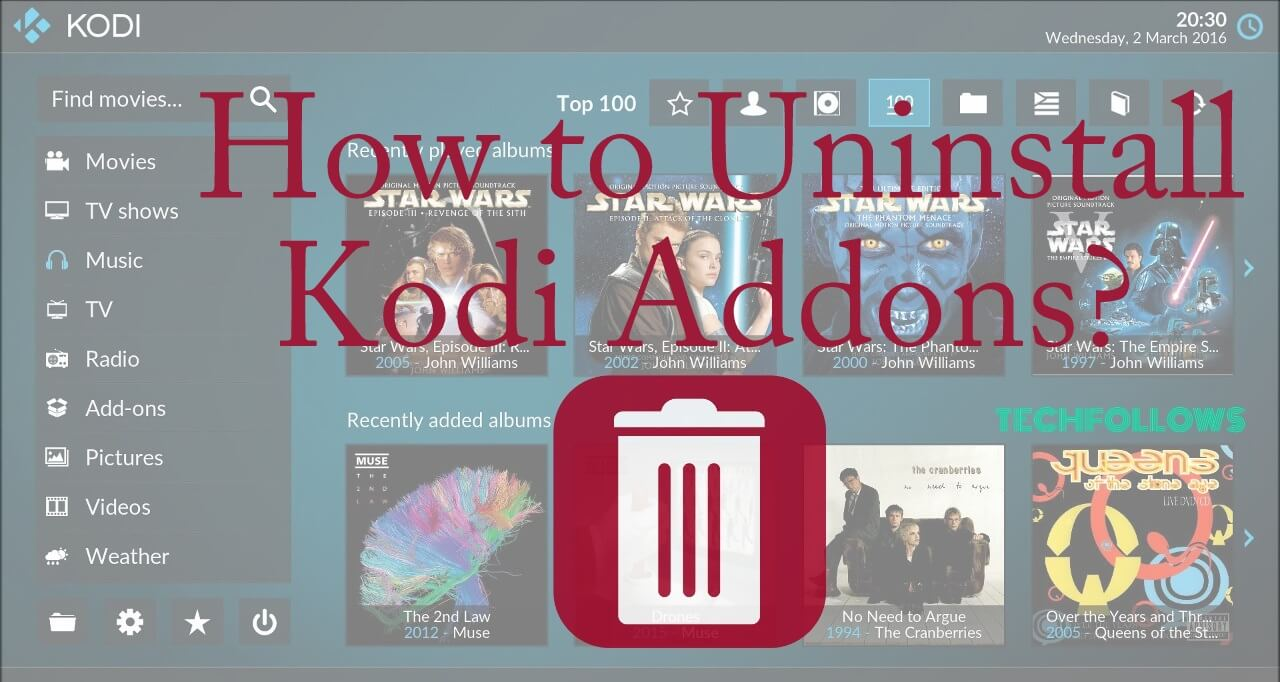 Delete Kodi Addons