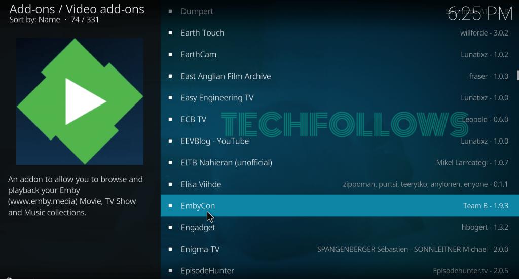 Select EmbyCon