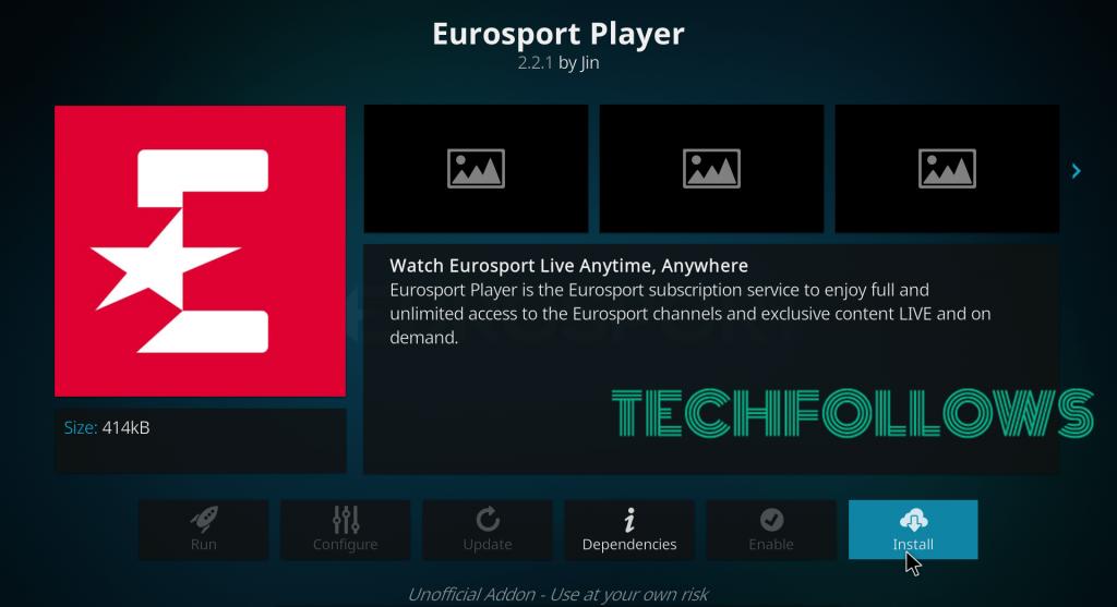 Eurosport Player Ohjelmat