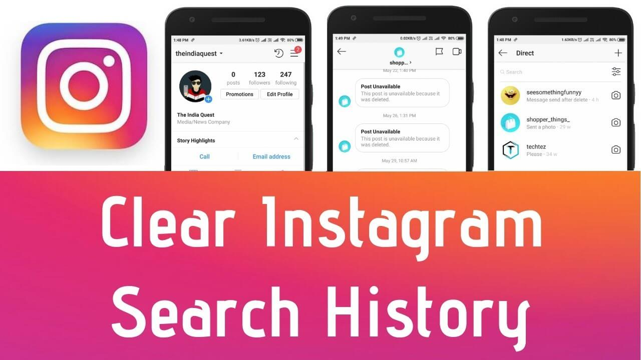 Clear Search History on Instagram