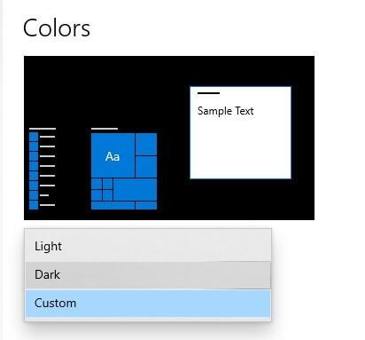 Enable Dark Mode on Windows 10