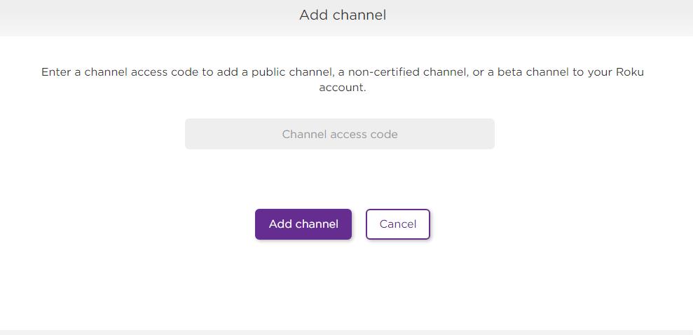 Enter Private Channel Code