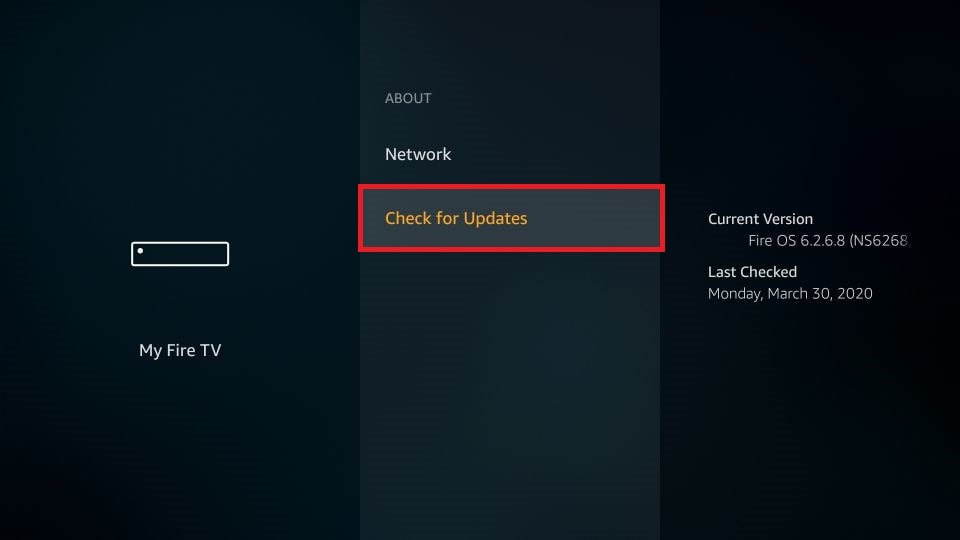 Check for Updates on Firestick