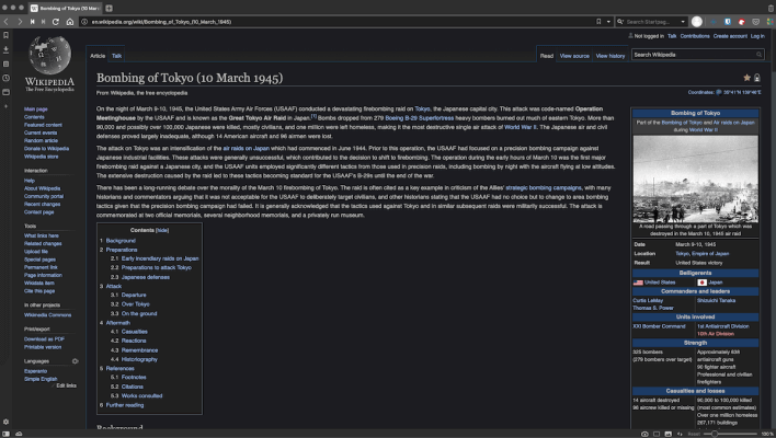 Dark Mode on Wikipedia Site
